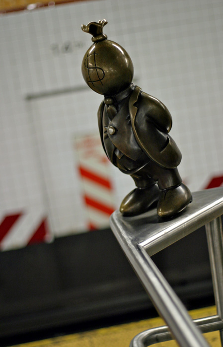 Little figurine at the 14th St. station