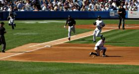 Dougie messing up a grounder