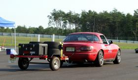 My Miata with the tire trailer at NJMP