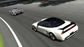 NSX-R chasing a Zonda in GT5