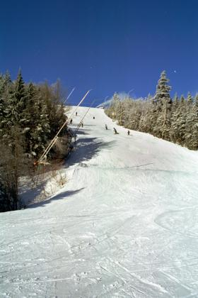 Okemo Mountain and the Green Mountains in Ludlow, Vermont
