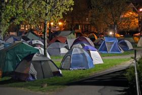 Tent State University - Where one can hear all the hippies whining.